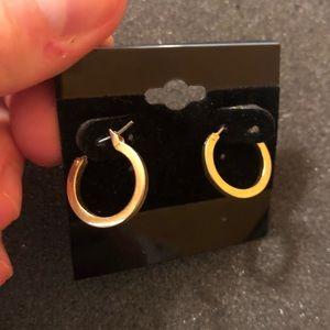 Lia Sophia Small Gold Circle Hoop Earrings